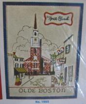 Vtg Bucilla Crewel Embroidery Colonial America Picture Kit 11x14 Old Boston 1995 - $7.42