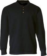 Stanley Men's Pullover Henley Fleece Lined Waffle Pattern Sweatshirt, Bl... - $27.71