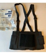 Back Support Belt W/ Suspenders W/ Built-in Lumbar Stabilizers Size Med ... - $9.90