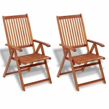 vidaXL 2x Acacia Wood Outdoor Dining Chair Home Kitchen Furniture Seat D... - $96.99