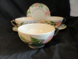 Franciscan Desert Rose Lot 3 cups 2 saucers 1 B&B plate - $7.99