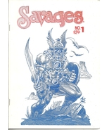 (CB-4) Rare 1988 Butch Burcham Comic Book: Savages #1 { Screen Printed ? }  - $25.00