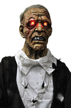Walking Dead Life Size STANDING ZOMBIE GHOUL Halloween Horror Prop-Light... - $79.17