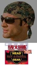 USMC DIGITAL HARDWOOD CAMO FITTED TIED BANDANA Head Wrap Skull Cap DOO D... - $7.35
