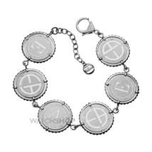 Emporio Armani EGS1401Stainless Steel Multi Disk Logo Bracelet BNWT $225 - $99.75