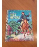 A Little Golden Book Walt Disney's Paul Revere Third Printing 1976 - $5.93