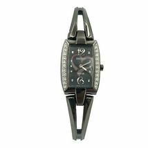 Seiko Solar Tressia Crystals Black Ion Plated Steel Quartz Ladies Watch SUP089 - $79.00