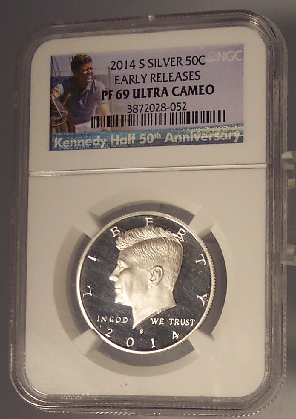 Primary image for 2014-S Kennedy Silver Proof 50c NGC PF 69 Ultra Cameo #G010