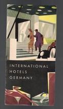 International Hotels- Germany Fold-Out Map Post-War - $7.37
