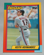 1990 #39t topps keith hernandez Cleveland Indians Baseball rc card rooki... - $9.16