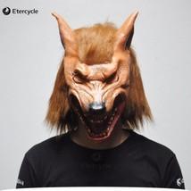 Scary Werewolf Wolf Head Masks Halloween Latex Mask Realistic Animal Cos... - $37.99 CAD