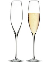 6 Waterford Elegance Crystal Champagne Flutes - $113.84