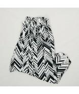 Women's Nike Dri-Fit Drop Crotch Black & White Joggers sz L - $37.67