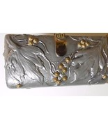 Pewter Clutch / Shoulder Purse with Chain Hand Made LE Signed Jenny Jolie - $124.40