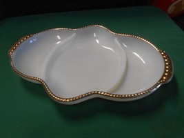 Great Anchor Hocking FIRE KING 3 section DIVIDED DISH - $5.95