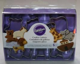 Wilton Cookie Cutters Cutter Set Noahs Ark Small fun Size New NIP Metal - $16.04 CAD