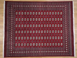 "8'3""x10'2"" HandKnotted Pure Wool Mori Bokara Elephant Feet Design Rug G4... - $926.84"