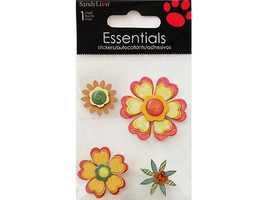 Sandy Lion Dimensional Floral Stickers #SK8206