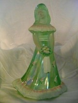 Fenton Art Glass Lime Green Bridesmaid Doll Figurine Shelly Fenton - $57.09