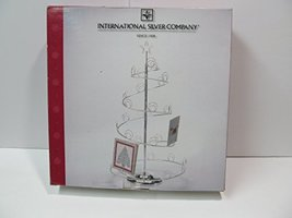 International Silver Co Spiral Wire Christmas Tree Card Holder - $31.67