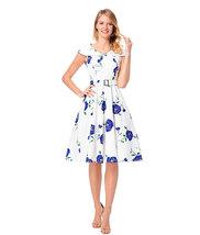 Rose print Sleeveless women costume - $35.00