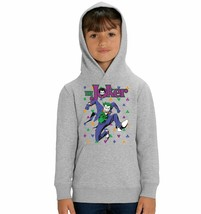 DC Comics The Joker Playing Cards Icons Children's Unisex Grey Hoodie - $24.08