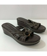 APOSTROPHE Sonya Brown Sandals Leather Upper Womens Size 7M - $43.51
