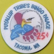 25¢ Casino Chip, Puyalup, Tacoma, WA. S70. - $4.29
