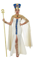 NEW Women's QUEEN OF EGYPT Neferti Egyptian Goddess Adult Halloween Costume - $48.99