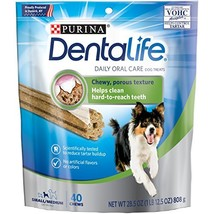 Purina Dentalife Daily Oral Care Small/Medium Dog Treats - 40 Ct. Pouch - $29.56