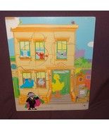Puzzle Sesame Street Counting Friends Wooden Tray  Age 2+ 2004 Elmo Big ... - $8.99