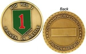 U.S ARMY 1ST INFANTRY DIVISION  BIG RED CHALLENGE COIN