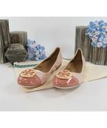 Tory Burch Minnie Seashell Nappa Tramonto Leather Cap Toe Ballet Flats S... - $182.66