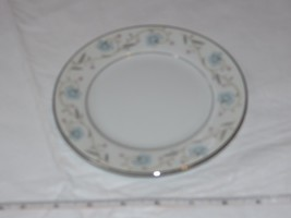 "English Garden Fine China 1221 Japan Bread Plate 6 1/4"" white blue flower ! - $29.69"