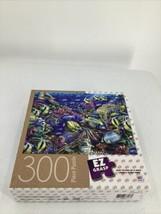 "Milton Bradley Coral Reef 2 Ocean Fish 18 X 24"" Ez Grasp 300 Piece Puzzle Jigsaw - $9.49"
