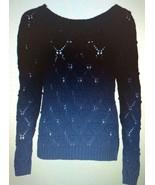 Tommy Hilfiger Women's Master Navy Blue Knitted Crewneck Sweater Sz M - $35.45