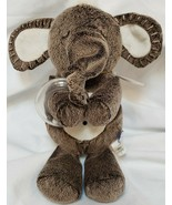 Manhattan Toy Plush Elephant Sensory Rattle Lovey Chime Brown Crinkle Ears - $22.75