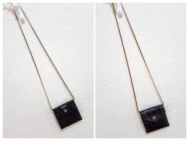 Auth Chanel Diamond Stitch Gold CC Caviar 2 in 1 Wallet Mini WOC Crossbody Bag image 4