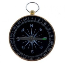 Gold Prismatic Navigation Compass for Outdoor Camping Hiking - $14.94