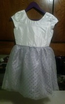 Gymboree Silver Ivory Glitter Tulle Party Dress Girls Sz 10 NWT! Retail $59.95 - $20.29
