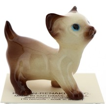 Hagen-Renaker Miniature Cat Figurine Siamese Large Kitten on Back and Walking image 5