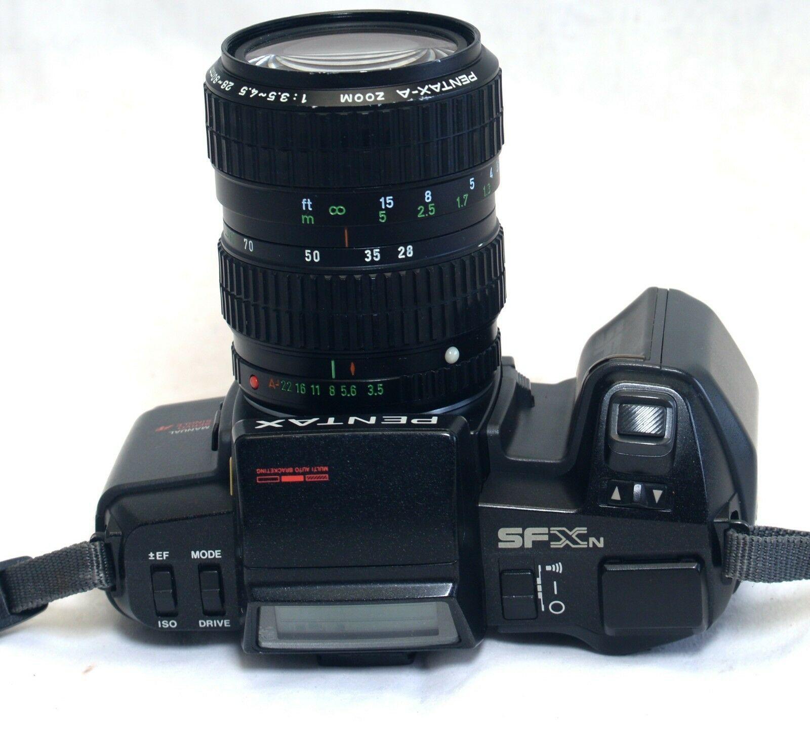 PENTAX SFXn Vintage 35mm FILM Camera 28-80mm f/3.5 Macro Zoom Lens ASAHI Japan