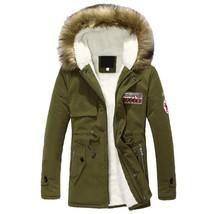 2018 Parka Men Coats Winter Jacket Men Slim Thicken Fur Hooded Outwear W... - $47.57