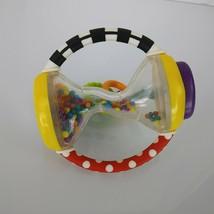 Sassy Baby Infant Developmental Toy Rattle Shake Grasp Rings Mirror Squeaker - $19.79
