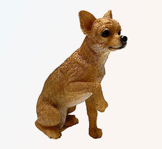 CHIHUAHUA TAN DOG Figurine Statue Hand Painted Resin Living Stone - $12.50