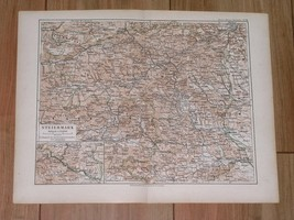 1892 ORIGINAL ANTIQUE MAP OF STEIERMARK STYRIA GRAZ / AUSTRIA  - $11.88