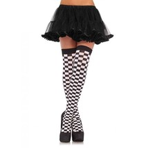LA-6281 Black & White Checkerboard Alice Wonderland Thigh High Halloween... - $8.95
