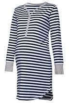 Happy Mama. Womens Maternity Hospital Nightdress Nursing Nightie Stripes... - $1.054,81 MXN