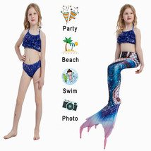 Kids New Arrival Mermaid Tails Swimming Party Cosplay Costumes With Monofin - $39.99