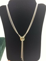DAVID YURMAN Sterling Silver 18K Yellow Gold 3 Strand Lavalier Necklace ... - $565.00